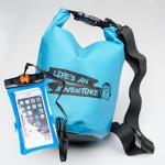 ชุด Set ซองกันน้ำมือถือเล็ก (4.7 นิ้ว) สีฟ้า + กระเป๋ากันน้ำ Penguin Bag ขนาด 5 ลิตร สีฟ้า