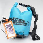 ชุด Set ซองกันน้ำมือถือเล็ก (4.7 นิ้ว) สีส้ม + กระเป๋ากันน้ำ Penguin Bag ขนาด 5 ลิตร สีฟ้า