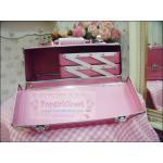 กระเป๋าเครื่องสำอางสีชมพูเข้ม Pearl Pink White Size M Make Up Box Korea Style ดีไซน์เมคอัพอาร์ทติสท์ by Korea(พร้อมส่งค่ะ)