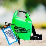 ชุด Set ซองกันน้ำมือถือเล็ก (4.7 นิ้ว) สีฟ้า + กระเป๋ากันน้ำ Penguin Bag ขนาด 5 ลิตร สีเขียว