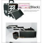 กระเป๋าเครื่องสำอางดีไซน์เมคอัพอาร์ทติสท์ สไตล์เกาหลี สีดำ Size L (W34.5xD17xH24.5cm.) Made in Korea (Pre-order)