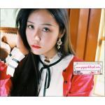 ต่างหูแฟชั่นสไตล์เกาหลี Baroque Luxury Shiny Rhinestone Pearl Flower Drop Earrings