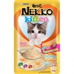 เน็กโกะ เพาซ์ ลูกแมว สูตรปลาทูน่ามูสผสมแซลมอน 1ลัง (48ซอง) ส่งฟรี