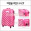 """กระเป๋าเดินทางล้อลากลายจุด PC+ABS Lovely Candy Polka dot Korea Style """"WATERMELON RED"""" มี 2 ไซส์ คือ 20"""" และ 24"""" (Pre-order) ราคาสินค้าด้านในนะคะ thumbnail 4"""