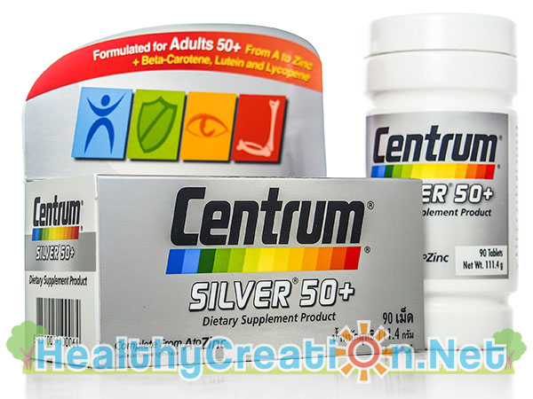 Centrum Silver 50+ From A to Zinc + Beta Carotene, Lutein & Lycopene