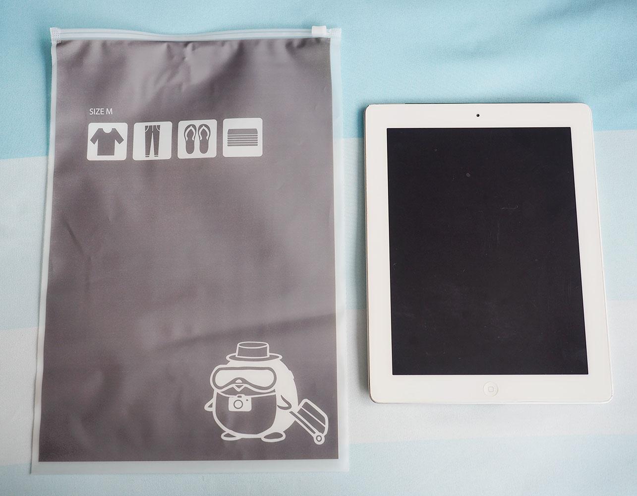 [เซต 3 ชิ้น] ถุงซิปรูดเอนกประสงค์ สำหรับใส่ของจัดระเบียบกระเป๋า Size M 3 ชิ้น