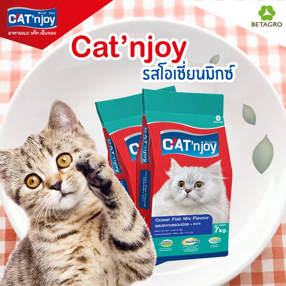 Cat njoy รสปลาทะเลรวมมิตร 1.2 kg