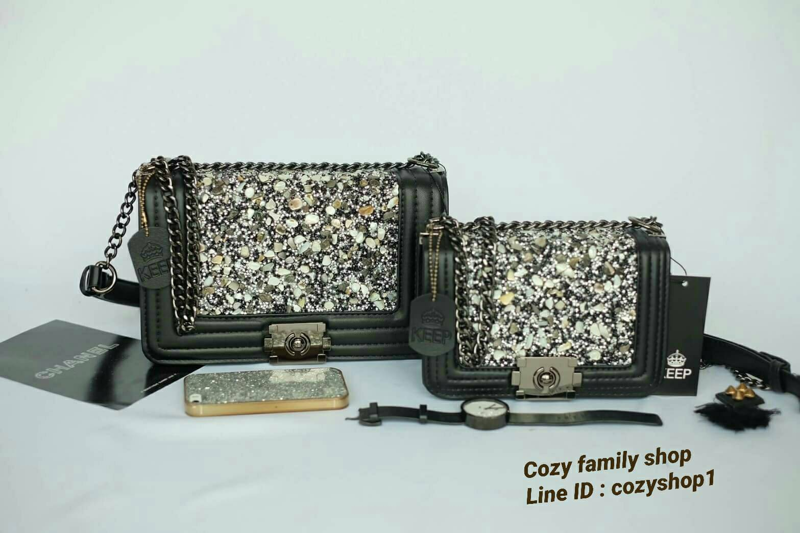 KEEP ( Shoulder Diamond Chain Bag )