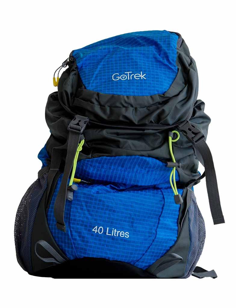 Gotrek ฺB-40C กระเป๋าเป้พับได้ น้ำหนักเบา สีฟ้า
