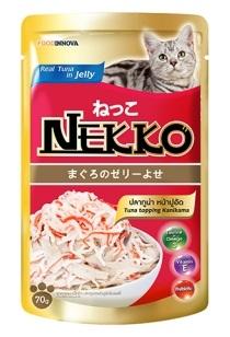 เน็กโกะ เพาซ์ สูตรปลาทูน่าหน้าปูอัด 1ลัง (48ซอง) ส่งฟรี