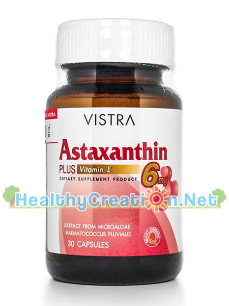 Vistra Astaxanthin 6 mg. วิสทร้า แอสตาแซนธีน 6 มก. บรรจุ 30 แคปซูล ช่วยต้านสารอนุมูลอิสระได้อย่างมีประสิทธิภาพสูงที่สุด