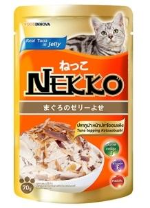 เน็กโกะ เพาซ์ สูตรปลาทูน่าหน้าปลาโออบแห้ง 1ลัง (48ซอง) ส่งฟรี