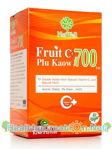 จำหน่าย NatWell Fruit C+ Plu Kaow แนทเวลล์ ฟรุต ซี พลูคาว 10 ซอง