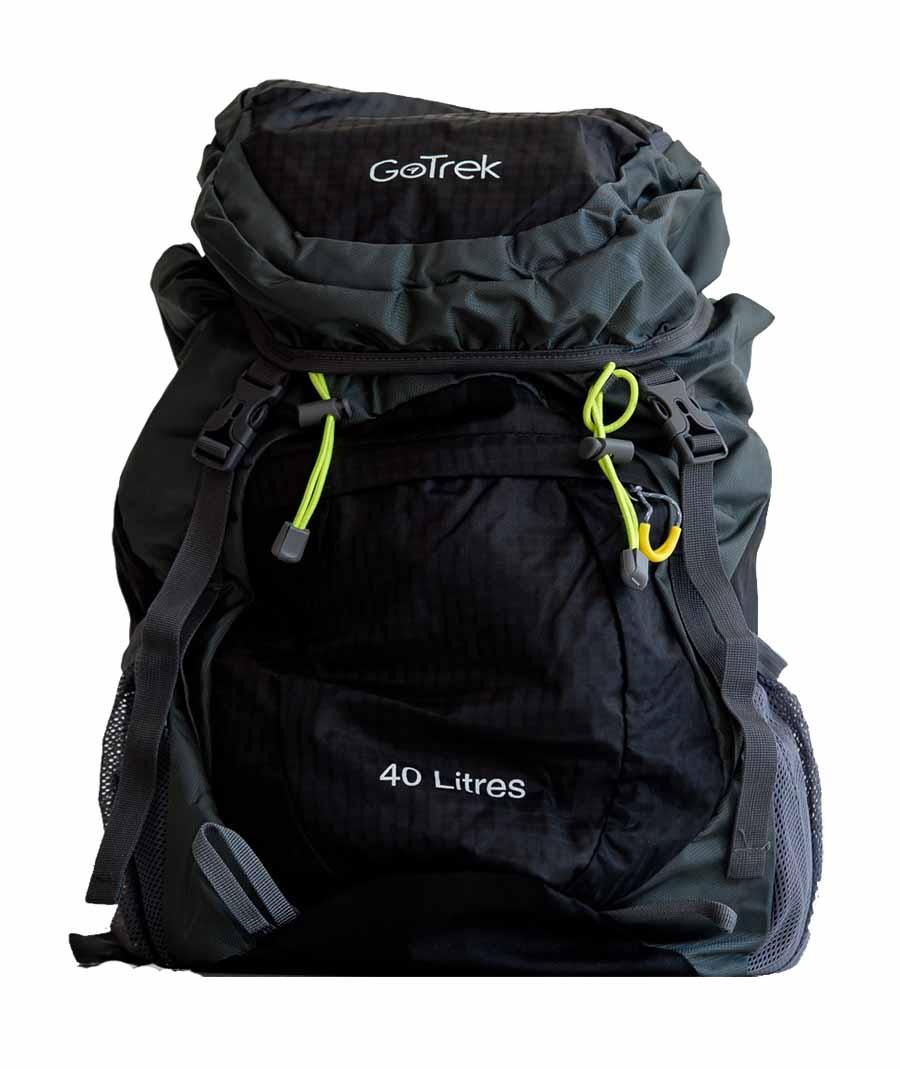 Gotrek ฺB-40C กระเป๋าเป้พับได้ น้ำหนักเบา สีดำ