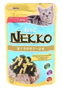 เน็กโกะ เพาซ์ สูตรปลาทูน่าหน้าสาหร่ายและไข่ตุ๋น 1ลัง (48ซอง) ส่งฟรี