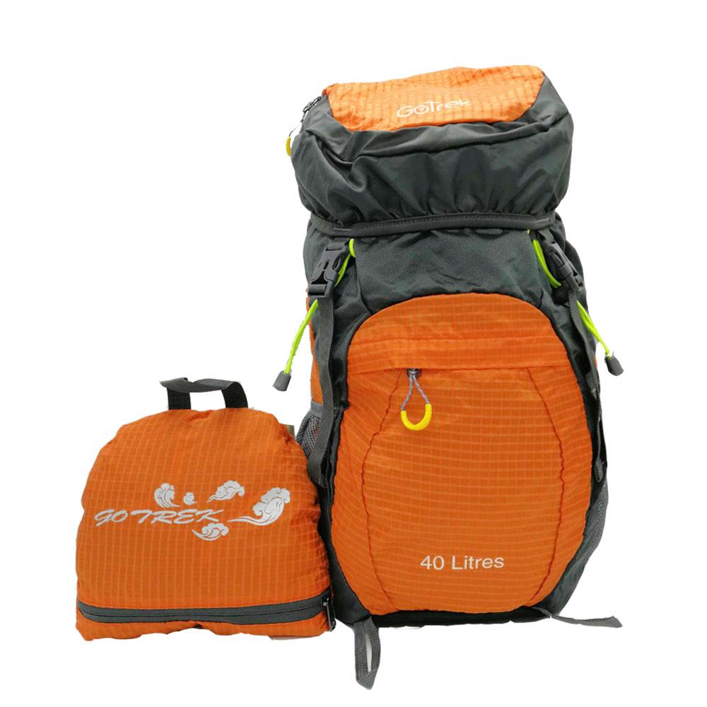 Gotrek ฺB-40C กระเป๋าเป้พับได้ น้ำหนักเบา สีส้ม