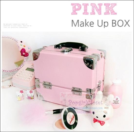 กระเป๋าเครื่องสำอางดีไซน์เมคอัพอาร์ทติสท์สีชมพูอ่อน Size S Baby Pink Made in Korea อินเทรนด์ในซีรี่ยส์เกาหลีค่ะ (Pre-order)