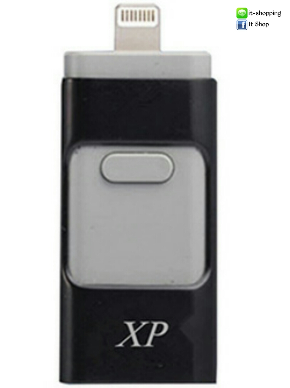 OTG flash Drive 2 in 1 iPhone+Micro USB 64 GB สีดำ