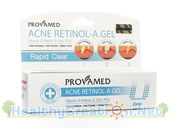 Provamed Acne Retinol-A Gel โปรวาเมด แอคเน่ เรตินอล-เอ เจล 10 g. (สีฟ้า) เจลแต้มสิว สำหรับผู้ที่มีปัญหาสิวอุดตันโดยเฉพาะ