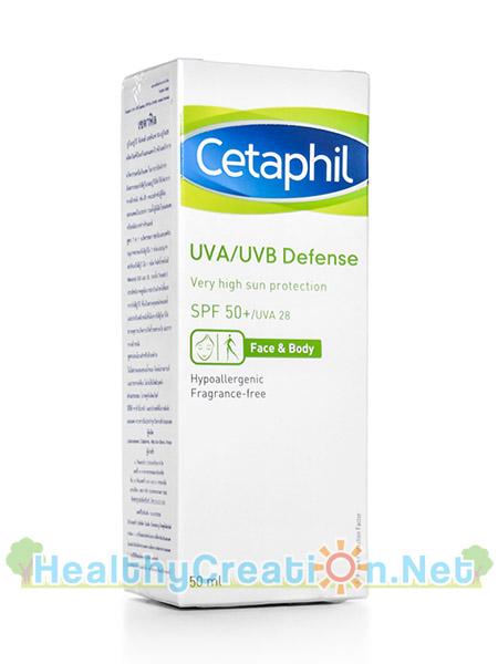 Cetaphil UVA/UVB Defense SPF50+ [50 ml.] ครีมกันแดดใหม่ล่าสุดในการปกป้องผิวจากอันตรายของรังสียูวีเอและยูวีบี