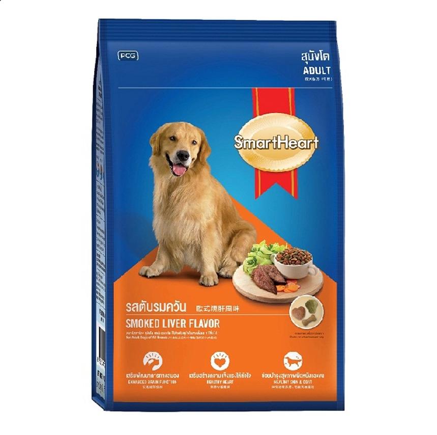 อาหารสุนัข สมาร์ทฮาร์ท สุนัขโต รสตับรมควัน