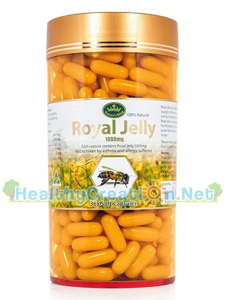 Nature's King Royal Jelly 1000 mg. เนเจอร์ คิง รอยัล เจลลี่ 1000 มก.