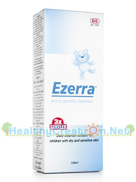 Ezerra Extra Gentle Cleanser อีเซอร์ร่า เอ็กซ์ตร้า เจนเทิ้ล คลีนเซอร์ [150 ml.] สบู่เหลวสำหรับผิวแพ้ง่าย และป้องกันผิวแห้งลอกคัน