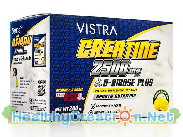 Vistra Creatine 2500 mg. & D-Ribose Plus บรรจุ 20 ซอง เพิ่มความทนทานในการออกกำลังกายได้นานขึ้น