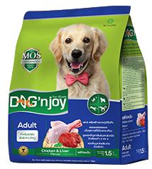 Dog'njoy สูตรสุนัขโตพันธุ์กลาง-ใหญ่ รสไก่-ตับ 20 กิโลกรัม ส่งฟรี