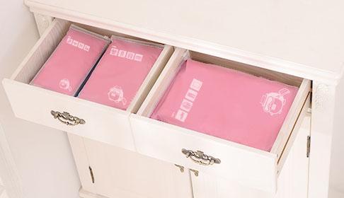 [เซต 6 ชิ้น] ถุงซิปรูดเอนกประสงค์ สำหรับใส่ของจัดระเบียบกระเป๋า Size M 3 ชิ้น Size L 3 ชิ้น