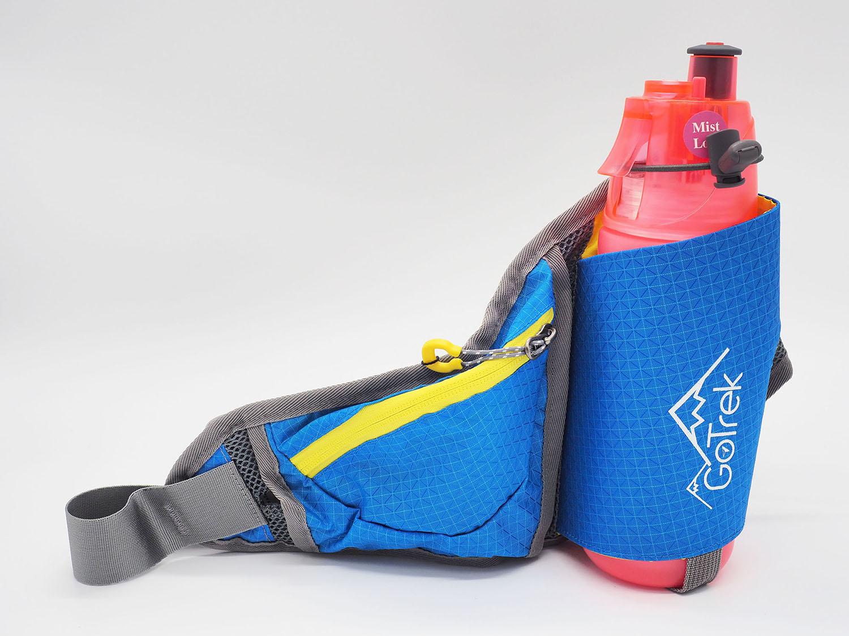 Gotrek B-02W กระเป๋าคาดเอวใส่กระบอกน้ำสำหรับใส่วิ่ง สีฟ้า