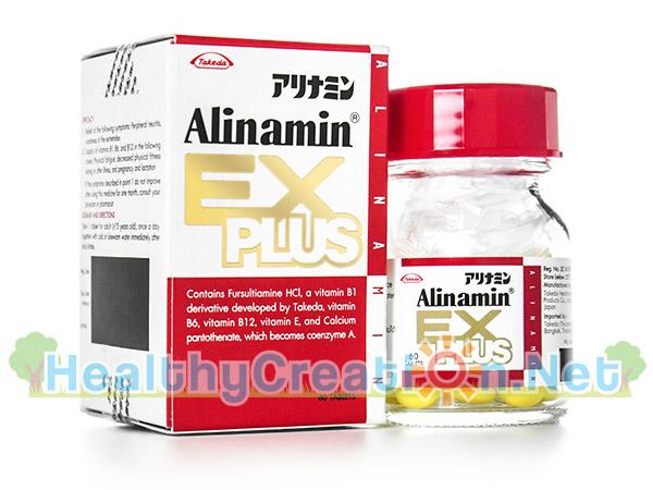 Alinamin Ex Plus อะลินามิน เอ๊กซ์ พลัส [60 เม็ด] บรรเทาอาการชาตามนิ้วมือนิ้วเท้า ฟื้นฟูสมรรถภาพทางกาย