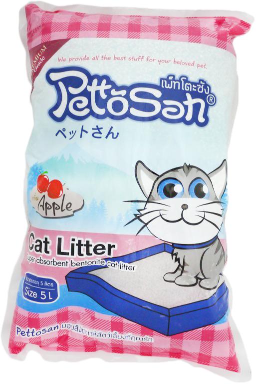 ทรายแมว Pettosan กลิ่นแอปเปิ้ล ส่งฟรี