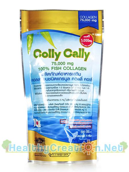Colly Cally Collagen คอลลี่ คอลลี่ คอลลาเจน [75 g. - ชนิดถุง] คอลลาเจนแท้ ช่วยให้ผิวมีออร่า คงความยืดหยุ่นของผิวไว้ให้แลดูอ่อนเยาว์