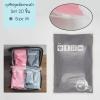 [เซต 20 ชิ้น] ถุงซิปรูดเอนกประสงค์ สำหรับใส่ของจัดระเบียบกระเป๋า Size M 20 ชิ้น สีเทา