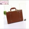 """กระเป๋าสะพายวินเทจสไตล์เกาหลี สีน้ำตาล ไซส์ 12"""" หรือ 14"""" Dark Brown Beauty Bag Vintage Retro Suitcase Korea Style (Pre-order ราคาสินค้าอยู่ด้านใน)"""
