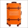 """กระเป๋าเดินทางดีไซน์วินเทจเรโทรสไตล์เกาหลี วินเทจอัพเกรด 4 ล้อ Orange Brown Original Classic Vintage Retro Suitcase Korea Style ไซส์ 20"""", 22"""", 24"""" หนัง PU (Pre-order) ราคาสินค้าอยู่ด้านในค่ะ"""