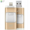 OTG Flash Drive XP 2 in 1 iPhone+Micro USB 128 GB สีทองชมพู