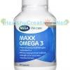 Mega Maxx Omega 3 เมก้า แมกซ์ โอเมก้า 3 บรรจุ 60 แคปซูล น้ำมันปลาสูตรเข้มข้น ลดอาการปวดข้อ บำรุงสมอง และจอประสาทตา