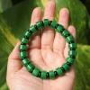 สร้อยข้อมือลูกปัดหินหยกดิบCitroen เขียวจักรพรรดิ์ ขนาด 10 mm.