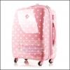 เลิกจำหน่าย!!! กระเป๋าเดินทางล้อลาก PC+ABS AIRCROSS Korea design สีชมพูอ่อนลายจุดขาว Light Pink / White Polka dot ไซส์ 17 นิ้ว และ 21 นิ้ว (Pre-order) ราคาสินค้าอยู่ด้านในค่ะ