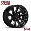 MAX-X09 ขอบ17 นิ้ว สีดำคลิบเงิน