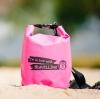 กระเป๋ากันน้ำ ถุงกันน้ำ Penguin Bag ขนาด 5 ลิตร สีชมพู