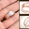 แหวนหยกTian Piyu สีงาช้าง