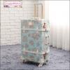 """กระเป๋าเดินทางดีไซน์วินเทจ อัพเกรด 4 ล้อ UNIWALKER """"BLue Love"""" for Summer 2017 Luggage&Suitcase Japanese Style ไซส์ 20"""", 22"""", 24, 26"""" หนัง PU+ABS (Pre-order) ราคาสินค้าอยู่ด้านในค่ะ"""