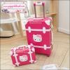 """กระเป๋าเดินทางดีไซน์วินเทจสไตล์เกาหลี วินเทจอัพเกรด 4 ล้อ ดีไซน์เพื่อสาวแบ๊ว สาวกคิตตี้โดยเฉพาะ """"KITTY RED ROSE/WHITE"""" Vintage Suitcase&Luggage Korea Style ไซส์ 20"""", 22"""", 24"""" หนัง PU (Pre-order) ราคาสินค้าอยู่ด้านในค่ะ"""