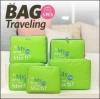 bags in bag ที่จัดระเบียบกระเป๋าเดินทาง พร้อมส่ง สีเขียว 1 เซ็ท มี 5 ชิ้น 5 ไซส์ค่ะ