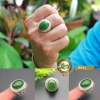 แหวนหยก Hetian Green Jasper R0012