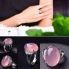 แหวนหินโมรา สีชมพู