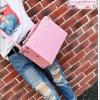 กระเป๋าสะพายวินเทจสไตล์เกาหลี สีเบบี้พิงค์ ไซส์ 12 หรือ 14 นิ้ว Baby pink Beauty Bag Vintage Korea Style (Pre-order ราคาสินค้าแต่ละไซส์อยู่ด้านในค่ะ)